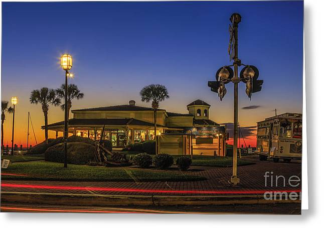 Greeting Card featuring the photograph Sunset Diner by Paula Porterfield-Izzo