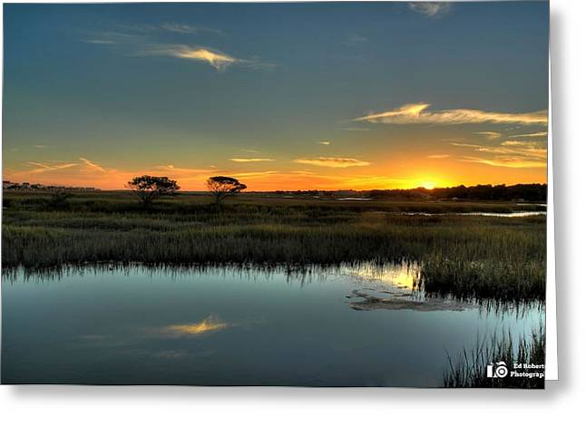 Sunset Greeting Card by Ed Roberts