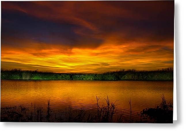 The Quiet At The End Of The Day Greeting Card by Mark Andrew Thomas