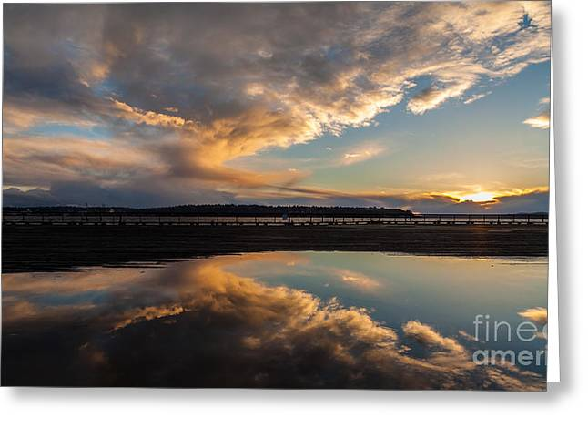 Sunset Evening Conclusion Greeting Card