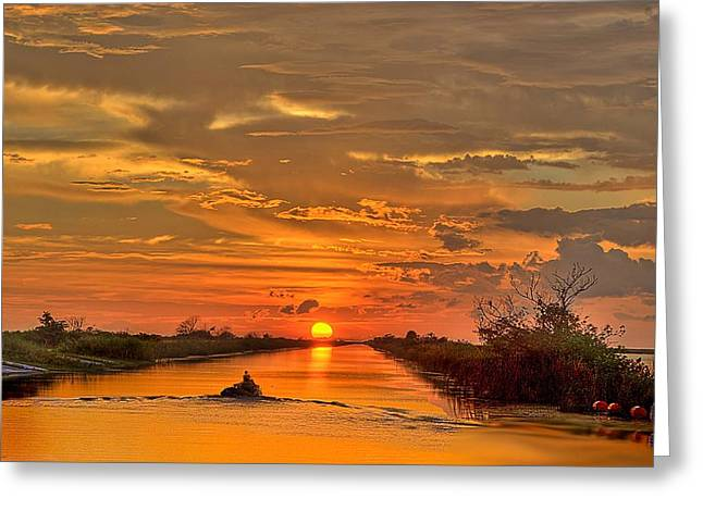 Sunset Everglades Greeting Card by Bob Mulligan