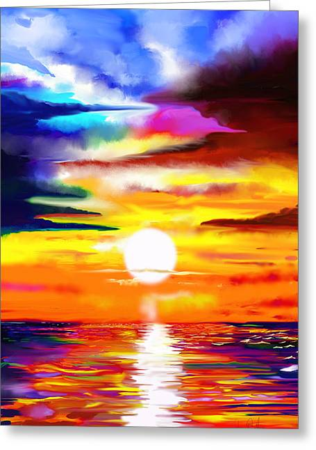 Sunset Explosion Greeting Card