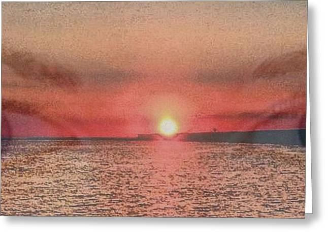 Greeting Card featuring the photograph Sunset Eyes Inspirational Art By Saribelle Rodriguez by Saribelle Rodriguez