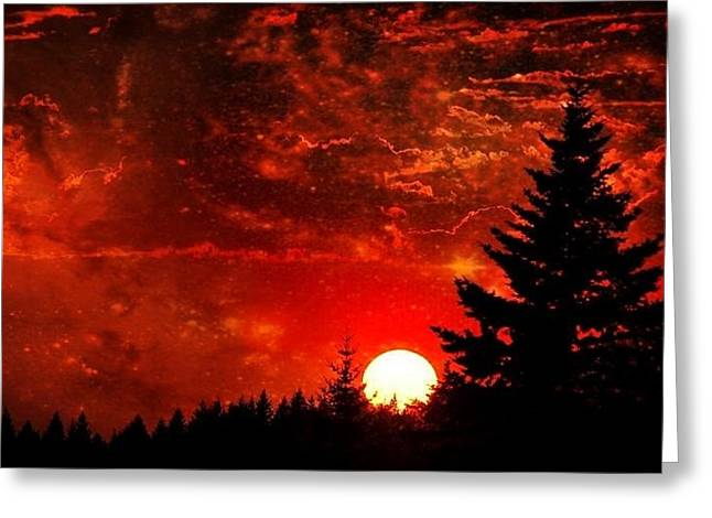 Sunset Fantasy I Greeting Card