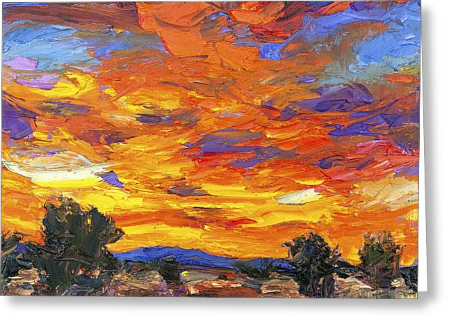 Sunset Fantasy Greeting Card by Steven Boone