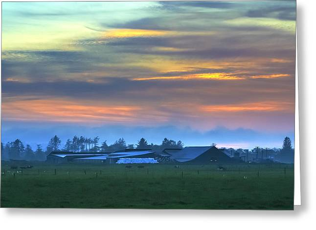 Sunset Farm Greeting Card