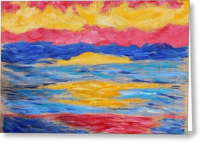 Sunset Greeting Card by Felicia Roberts