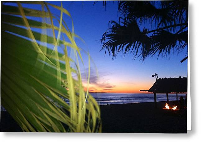 Sunset Fire At Sano Greeting Card