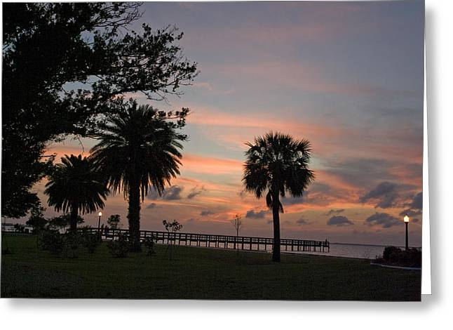 Greeting Card featuring the photograph Sunset Fisherman by Judy  Johnson