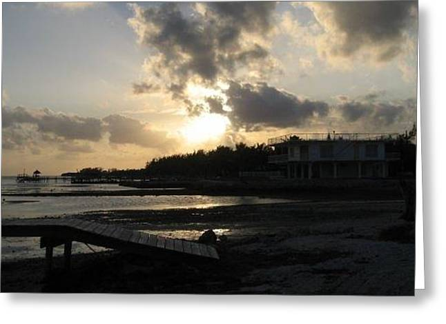 Greeting Card featuring the photograph Sunset  - Florida Keys by Jean Marie Maggi