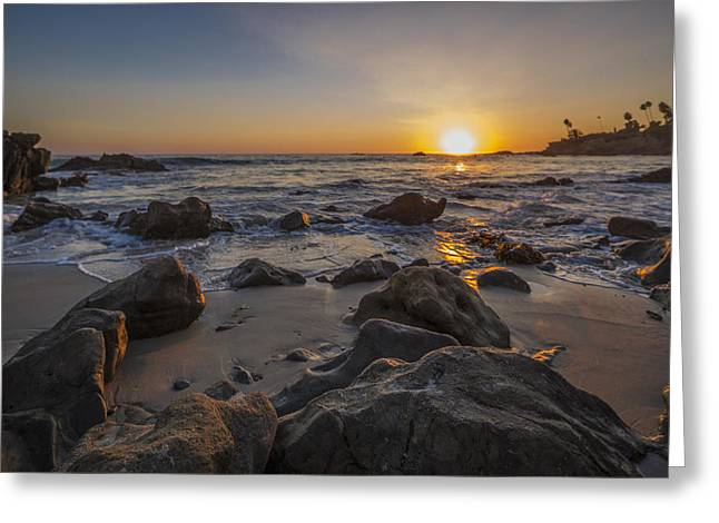 Sunset For The Tide Pools Greeting Card by Scott Campbell
