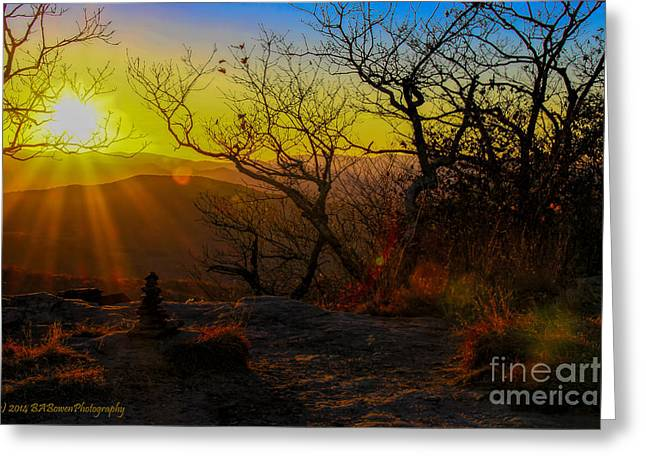 Sunset From Blood Mountain Greeting Card