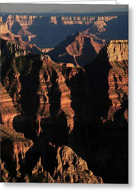 Sunset From Bright Angel Point, North Greeting Card
