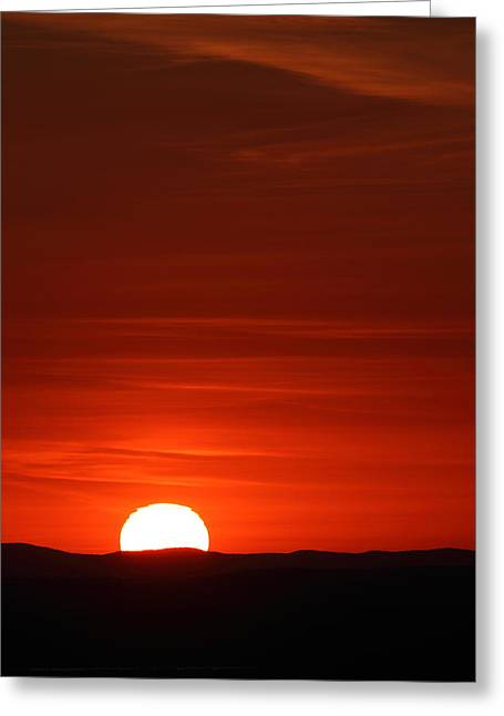 Sunset From Cadillac Mountain Greeting Card by Acadia Photography