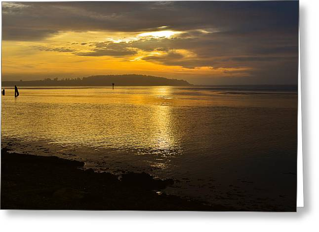 Sunset From Fields Landing Greeting Card