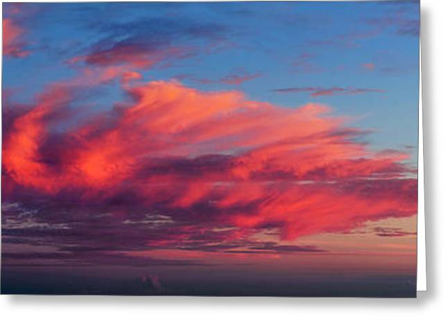 Sunset From Haleakala Greeting Card by Babak Tafreshi