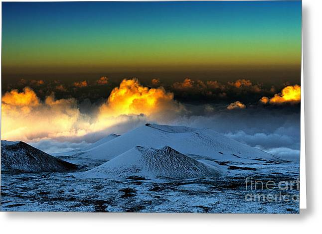 Sunset From Mauna Kea Greeting Card by Karl Voss