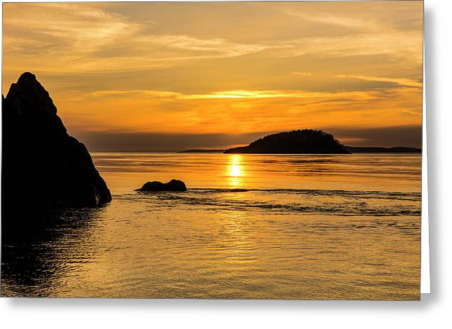 Sunset From North Beach With Deception Greeting Card