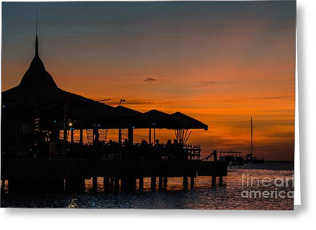 Sunset From Pelican Pier Greeting Card