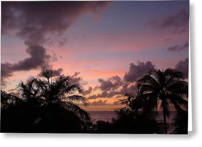 Sunset From Terrace 3 St. Lucia Greeting Card