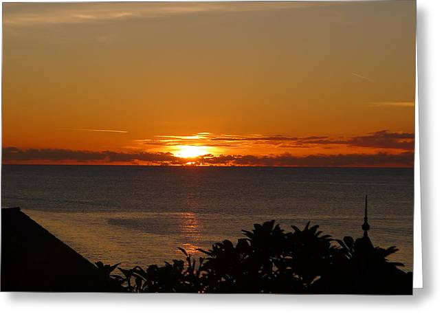 Sunset From Terrace - St. Lucia 2 Greeting Card