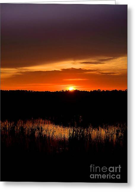 Greeting Card featuring the photograph Sunset From The Huntington Beach Causeway by Kathy Baccari