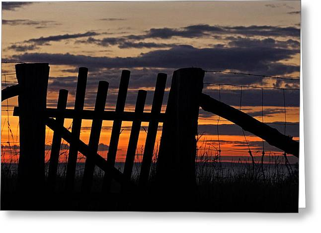Sunset Gate Greeting Card by Inge Riis McDonald