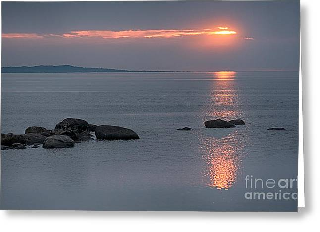 Sunset Glow At Awenda Beach Greeting Card