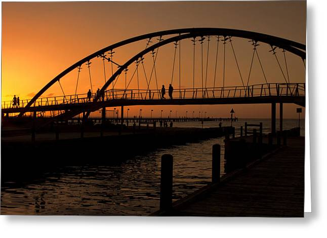 Greeting Card featuring the photograph Sunset Glow by Kim Andelkovic