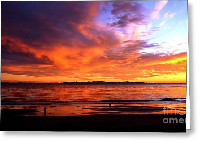 Greeting Card featuring the photograph Sunset Glow by Sue Halstenberg