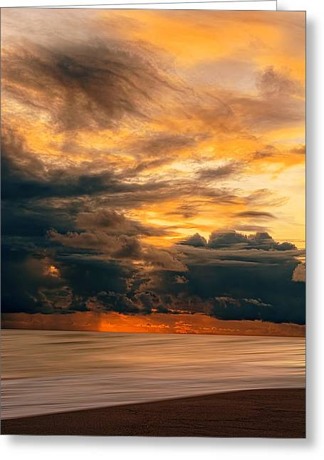 Sunset Grandeur Greeting Card by Lourry Legarde