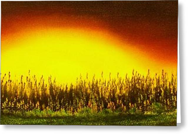 Sunset Groove-original Sold-buy Giclee Print Nr 27 Of Limited Edition Of 40 Prints  Greeting Card