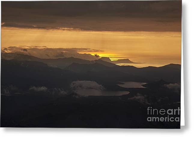 Greeting Card featuring the photograph Sunset by Gunnar Orn Arnason