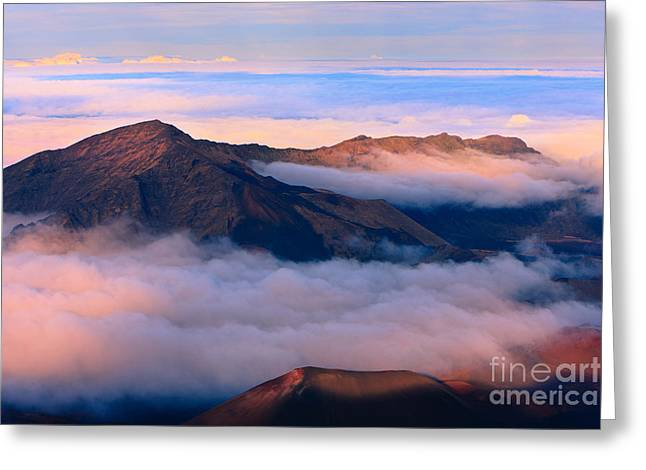 Sunset Haleakala National Park - Maui Greeting Card