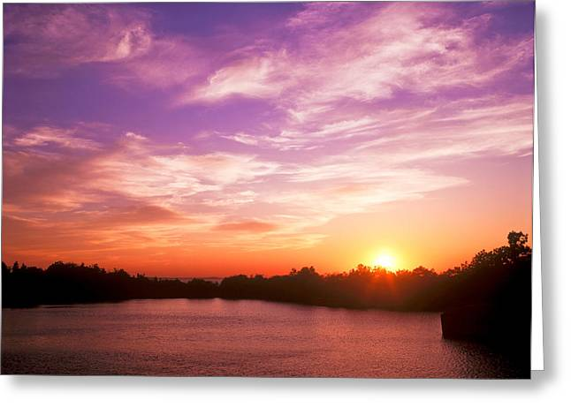 Sunset Halibut Point Greeting Card