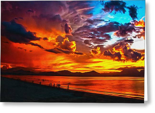 Sunset Happiness Greeting Card