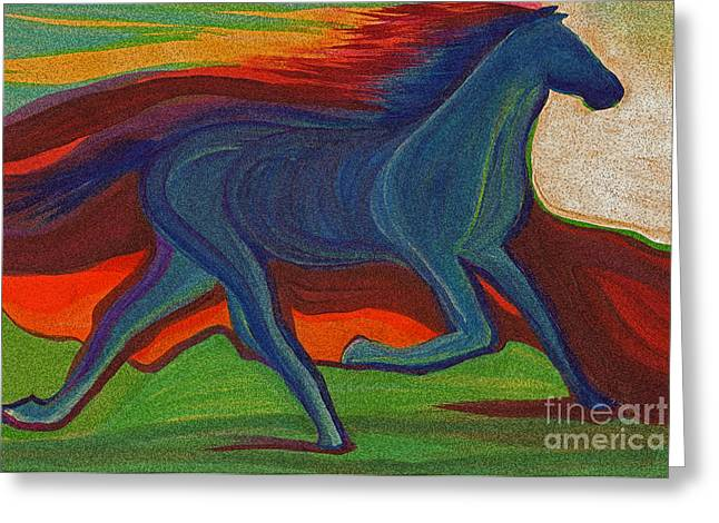 Sunset Horse By Jrr Greeting Card by First Star Art