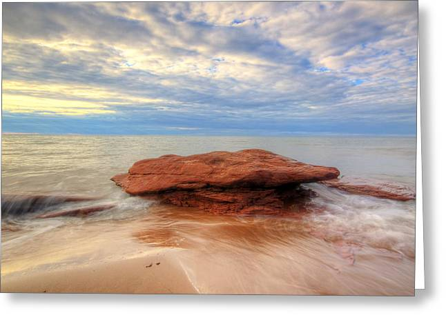 sunset hour at PEI National Park. Greeting Card
