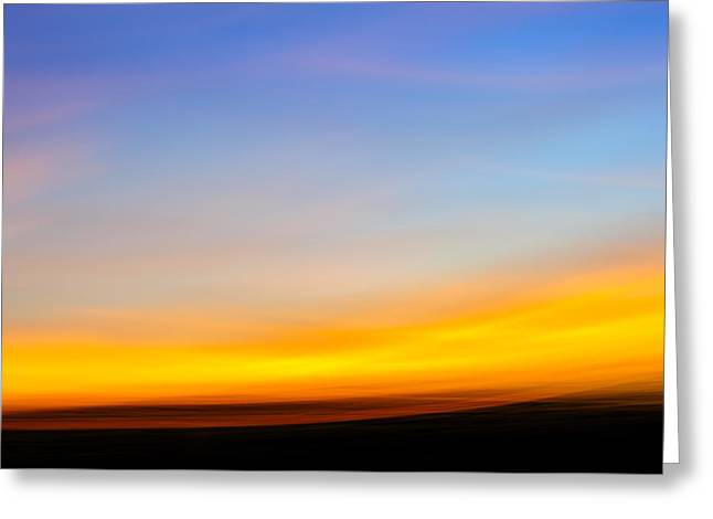 Sunset In Abstract No.2 Greeting Card by Chris Modlin