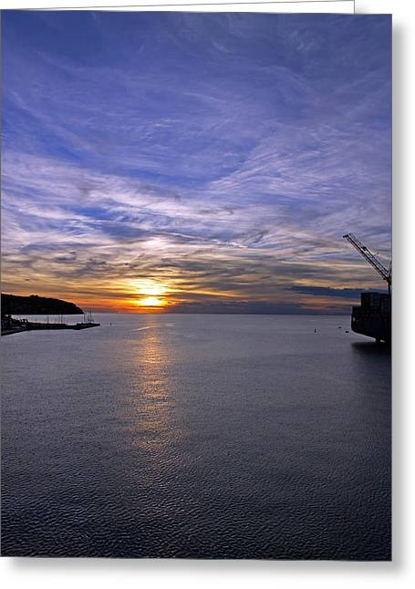 Sunset In Adriatic Greeting Card