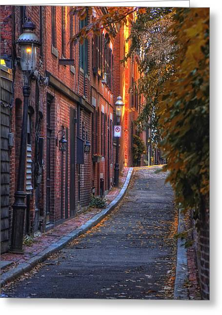 Sunset In Beacon Hill Greeting Card