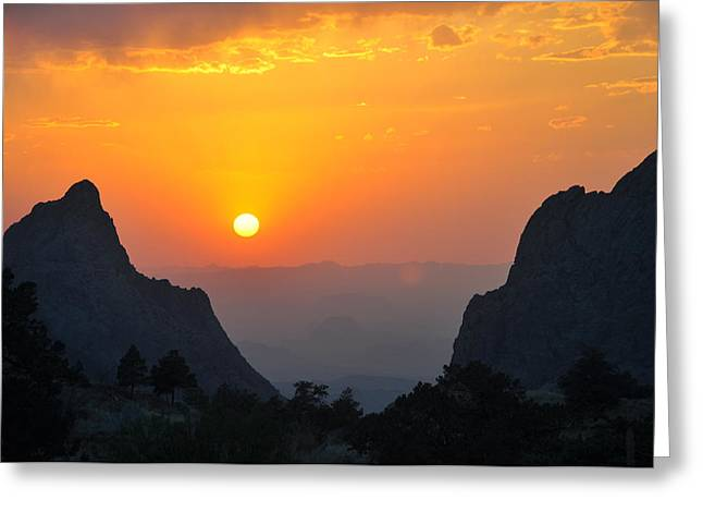 Sunset In Big Bend National Park Greeting Card