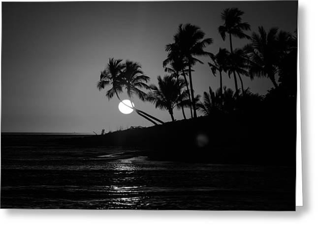Sunset In Black And White Greeting Card