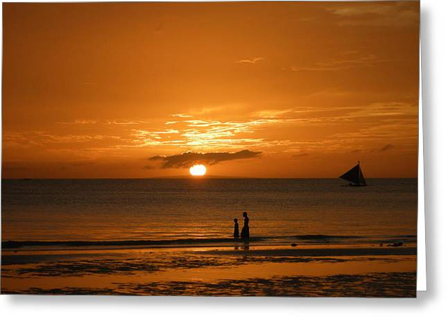 Sunset In Boracay Greeting Card