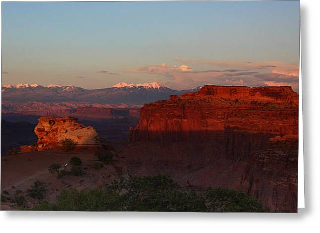 Sunset In Canyonlands National Park Greeting Card