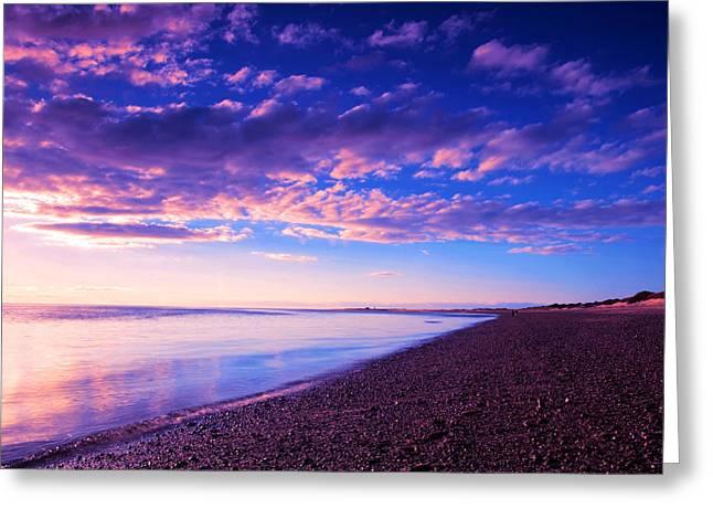 Sunset In Cape Cod Boston Massachusetts  Greeting Card