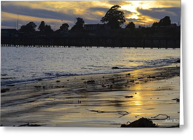 Sunset In Capitola Greeting Card by Alex King
