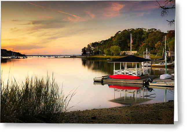 Sunset In Centerport Greeting Card