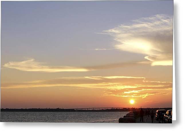 Sunset In Charleston Greeting Card
