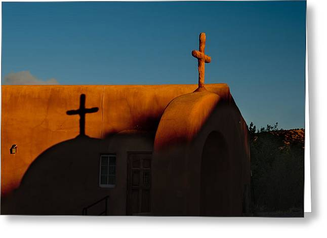 Sunset In Chimayo Nm Greeting Card by Julie VanDore